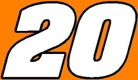 20 Race Number 2 Color Aardvark Bold Font Decal / Sticker