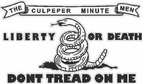 Culpeper Minutemen Don't Tread on Me Decal / Sticker