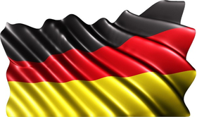 German Flag Decal / Sticker 02