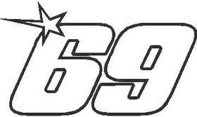 69 Nicky Hayden Decal / Sticker