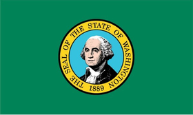 Washington State Flag Decal / Sticker 01