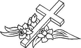 Cross Decal / Sticker 01