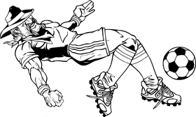 Soccer Cowboys Mascot Decal / Sticker