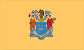 New Jersey State Flag Decal / Sticker 01