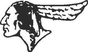 Indian Cowboy Decal / Sticker 04