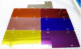zz Blue Chrome Blank License Plate