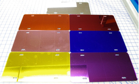 zz Chrome Blank License Plate