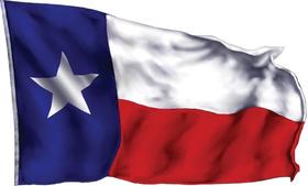 Waving Texas Flag Decal / Sticker 06