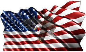 American Flag Eagle Waving Decal / Sticker 15