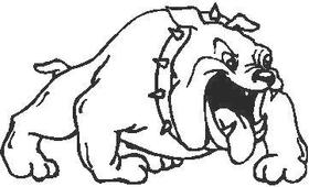 Bulldog Decal / Sticker 08