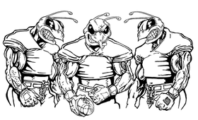 Football Hornet, Yellow Jacket, Bee Mascot Decal / Sticker 11