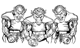 Football Buffalo Mascot Decal / Sticker fb9
