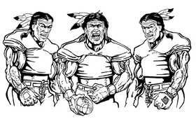 Football Braves / Indians / Chiefs Mascot Decal / Sticker fb09