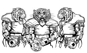 Football Tigers Mascot Decal / Sticker 5