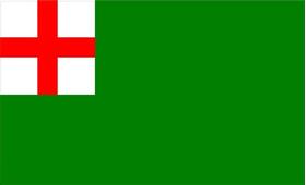 Newbury Massachusetts Flag Decal / Sticker 01