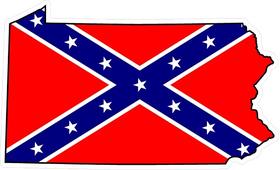 Pennsylvania Confederate Flag Decal / Sticker 03