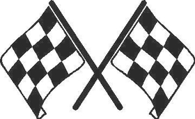 Checkered Flag Decal / Sticker 65