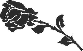 Rose Decal / Sticker 01