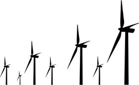 Windmill Decal / Sticker 01