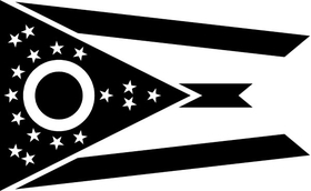 Ohio Flag Decal / Sticker 03