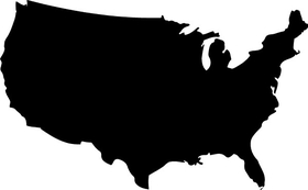 USA Map Decal / Sticker 01