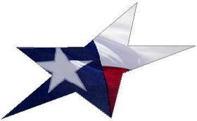 Texas Flag Star Decal / Sticker 06