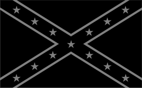 Black and Gray Confederate Flag Decal / Sticker 26