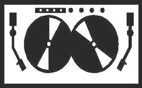 DJ Dee Jay Decal / Sticker 03