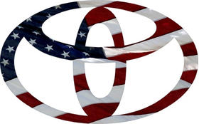 American Flag Toyota Decal / Sticker 11