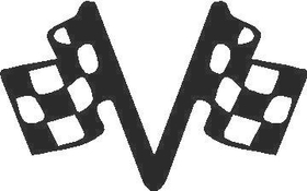Checkered Flags Decal / Sticker 02