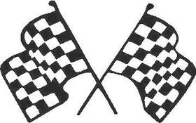 Checkered Flag Decal / Sticker 73