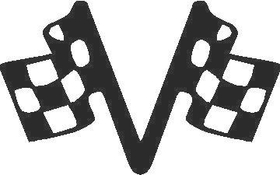 Checkered Flags Decal / Sticker 01