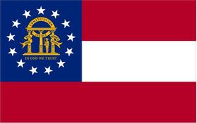 Georgia State Flag Decal / Sticker 03