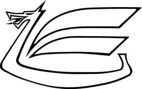 Toyota Celica Supra Dragon Decal / Sticker 05