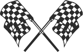 Checkered Flag Decal / Sticker 19