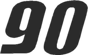90 Race Number Solid Decal / Sticker