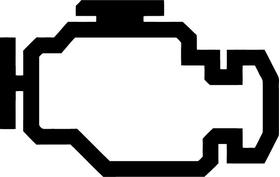 Check Engine Light Icon Decal / Sticker 01