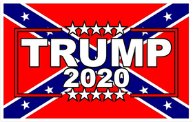 TRUMP 2020 Confedrate Flag Decal / Sticker 12