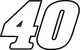 40 Race Number / Sticker OUTLINE