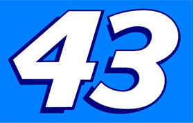 43 Race Number Decal / Sticker 2 Color b