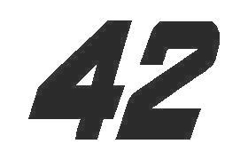 42 Race Number Decal / Sticker SOLID