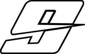 9 Race Number Decal / Sticker OUTLINE d