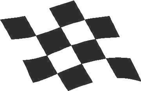 Checkered Flag Decal / Sticker 22