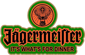 Jagermeister It's What's For Dinner Decal / Sticker