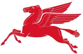 MobilGas Pegasus Decal / Sticker 13