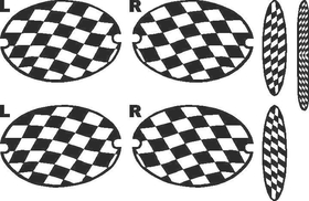 C5 Checkered Rear set of 7 light covers