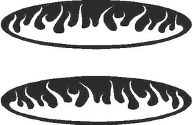 C5 Flaming Rear Marker Light Covers (set of 2)