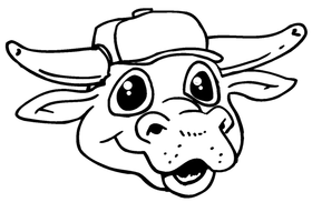 Bull Mascot Decal / Sticker 1