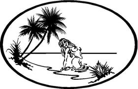 Girl at Beach Decal / Sticker