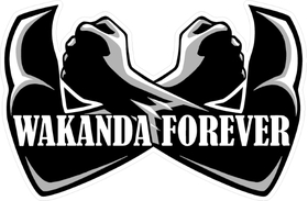 Black Panther Wakanda Forever Decal / Sticker 07